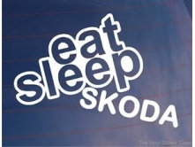 Eat Sleep Skoda (14cm) арт.2501