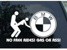 BMW No Free Ride (17cм) арт.2527